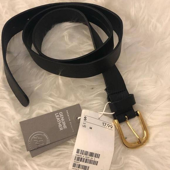 a87d041bb3ae6 H&M Accessories | Hm Leather Black Belt Nwt | Poshmark